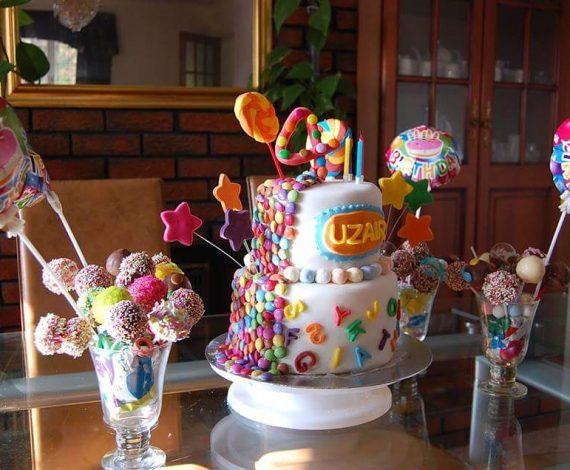 Candy & Alphabet Theme Cake