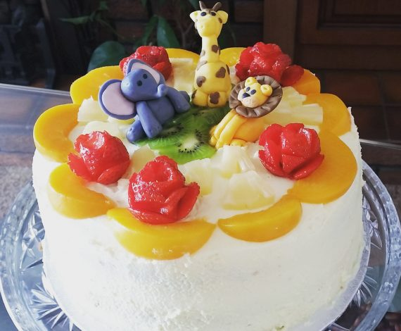 Animal Theme Fresh Cream Cake