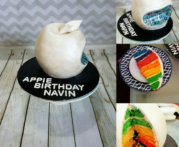 3D Apple Logo Pinata Cake