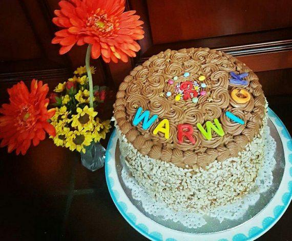 6 layer Birthday Cake
