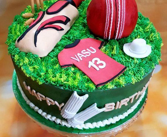 Cricket Themed Cake