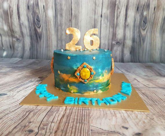 Watercolour Jewel Cake