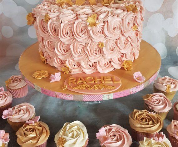 Pink & Gold 30th Cake