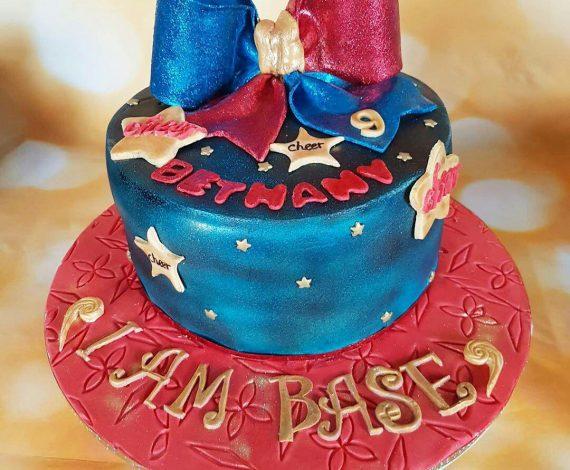 Cheerleader Bow Cake