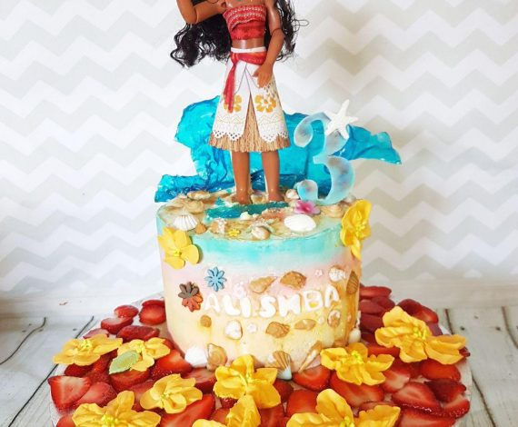 Moana Themed Cake