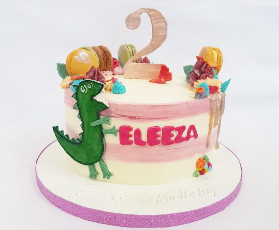 Dino Birthday Cake- Girl