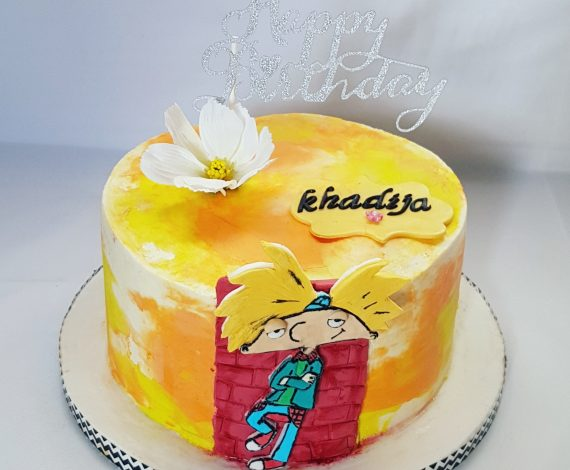 Hey Arnold Themed Cake