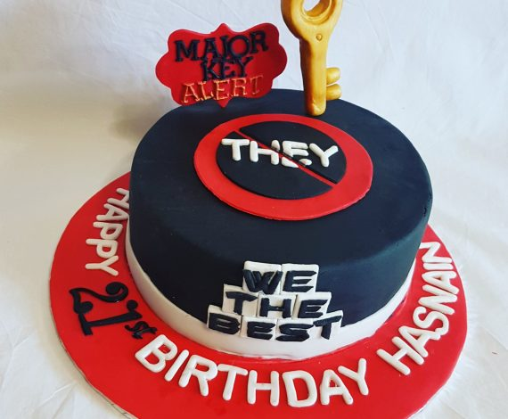 Dj Khaled Themed Cake