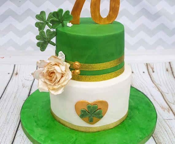 70th Irish Themed Birthday Cake