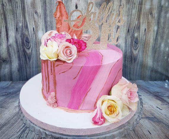 Pink Marble N Floral