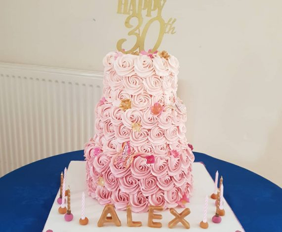 3 Tier Ombre Rose